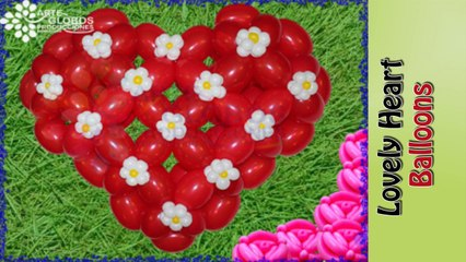 Corazon en globos, balloon heart beautifull