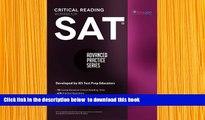 [Download]  SAT Critical Reading Workbook (Advanced Practice Series) (Volume 4) Khalid Khashoggi