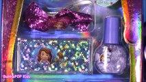 Disney Princess Sofia the First Lip Gloss Amulette! Lip GLoss Charm Bracelet Nail Polish! Beauty Set