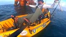 Kayak Fishing Offshore; Crazy Shark Attack   Shark Week 2016 George Saber
