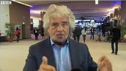 Grillo in Italia in guerra con la Banca Centrale Europea (BBC)