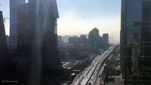 Time Lapse Images of Beijing Remaining in Dirty Weather