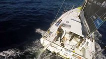 No need for a drone when you sail alone around the globe with Vendée Globe Race. Just use a kite !