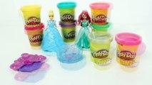 Play Doh Cinderella Playset Princess Ariel Little Mermaid Disney Princess Magiclip Dolls Toys