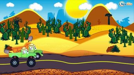 Akıllı arabalar - Kamyon Turuncu Çizgi Film - Kamyonlar çocuklar - Eğitici Çizgi Film