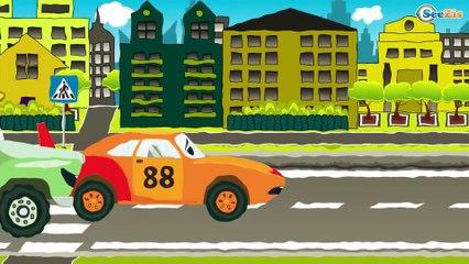 Akıllı arabalar | Kamyon inşaat çizgi filmi ve Araba | Kamyonlar çocuklar | Eğitici Çizgi Film