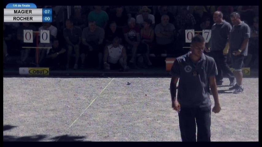 International de la Ville d'Espalion 2016 : quart LACROIX vs MAGIER