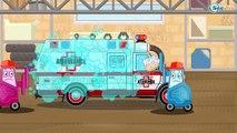 Der Gelb Bagger und Der Lastwagen Die große Autos für Kinder Cartoon für Kinder