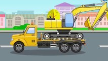 Die große Autos für Kinder   Der Bagger   Animation für Kinder   Lehrreicher Zeichentrickf