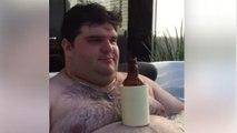 Boire une bière sans les mains