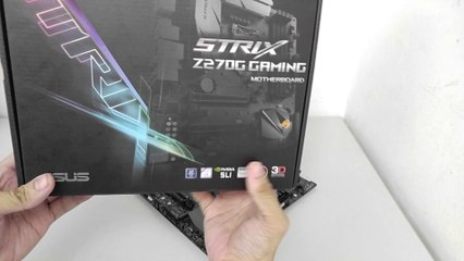 ASUS ROG Strix Z270G GAMING Motherboard Unboxing and Overview
