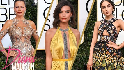 Golden Globes 2017 Red Carpet Fashion & Makeup Trends: Olivia Culpo, Emily Ratajkowski Sofia Vergara