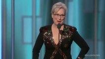 Golden Globes : Le discours politique de Meryl Streep