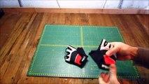 Paire de gants courts cycliste junior rouge Optim'alp - Protection cycliste