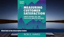 PDF [FREE] DOWNLOAD  Measuring Customer Satisfaction: Survey Design, Use, and Statistical Analysis