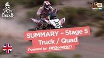 Stage 5 Summary - Quad/Truck - (Tupiza / Oruro) - Dakar 2017