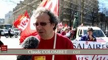Quatre syndicats ont manifeste contre la politique du...