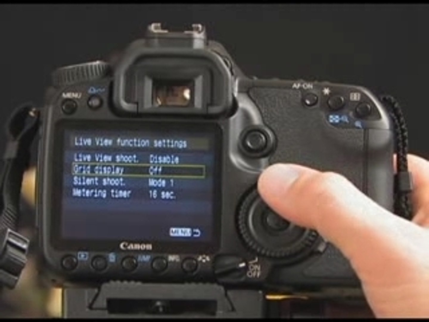 Canon EOS 40D Live View Demonstration