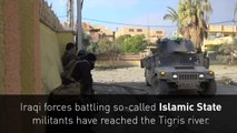 Iraqi forces reach Tigris river