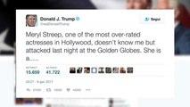 Meryl Streep attacca Trump, lui replica: una tirapiedi di Hillary