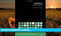 DOWNLOAD [PDF] Memes in Digital Culture (The MIT Press Essential Knowledge series) Limor Shifman