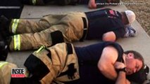 Firefighters Finally Rest By Sleeping On Sidewalk After Battling Wildfires-z6uN3pTnqTE