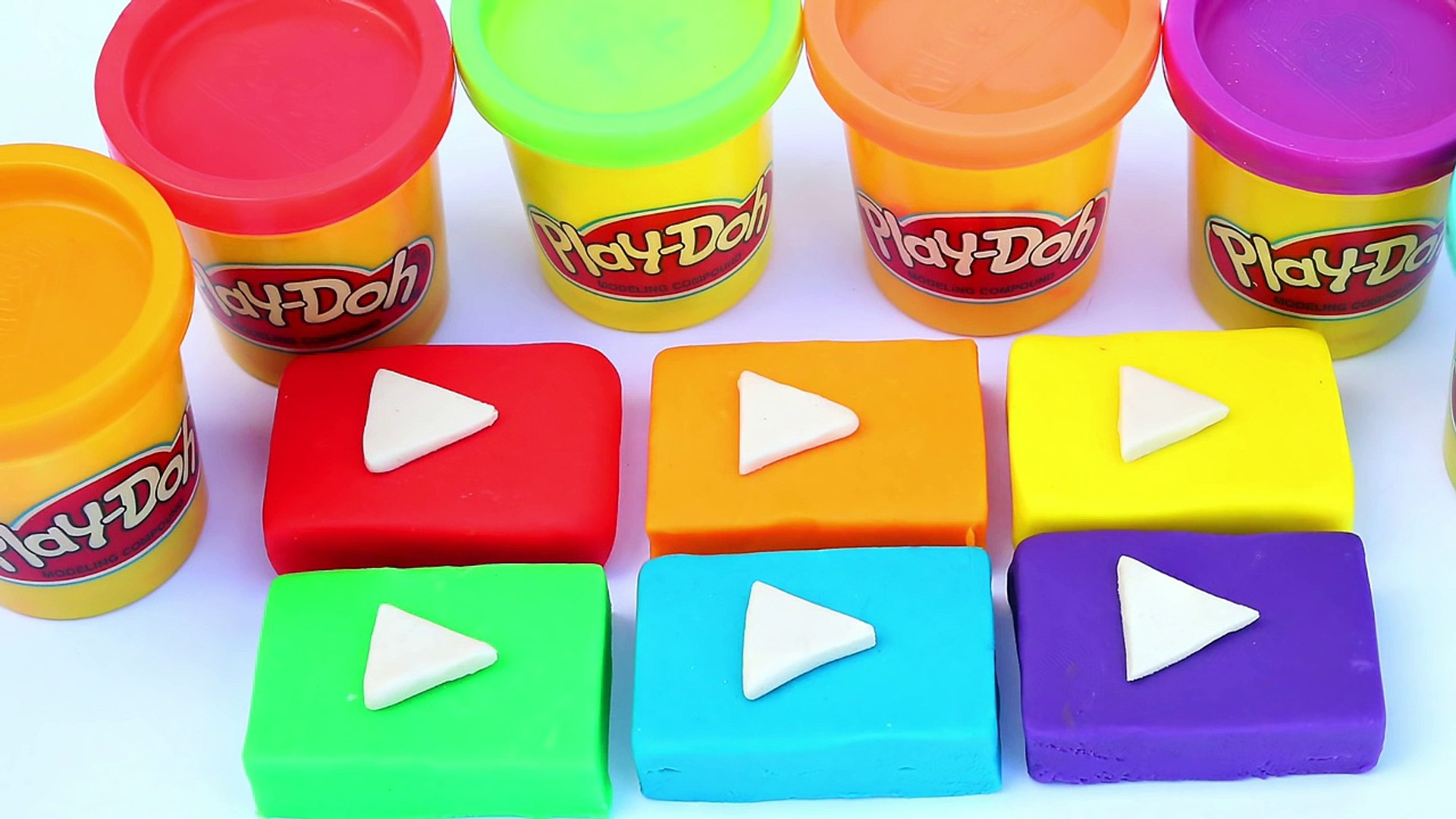 YouTube Play Buttons Play Doh Fun Kids Video