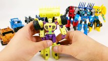 Transformers Rid Adventure Autobots vs Decepticons Bumblebee Optimus Prime 10 Vehicle Robot Car Toys