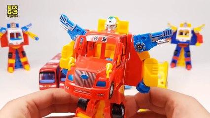 Public Bus color Combination Transfomation Robot Car Toys