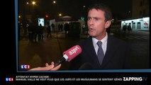 Attentat Hyper cacher : Manuel Valls ne veut plus que les juifs et les musulmans se sentent gênés (Vidéo)