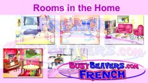 """Rooms in the Home"" (French Lesson 10) CLIP – Bedroom Bathroom, Chambre Salle de Bain, House Words-rWUgqMcahH0"