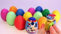 Play Doh Eggs Mickey Mouse Surprise Egg Minnie Mouse Dora The Explorer Peppa Pig Surprise Eggs Toys