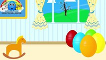 Learn Colours - Surprise Eggs filled with TOYS ★ Coloring Book ★ Colors for Kids, Toddlers & Babies