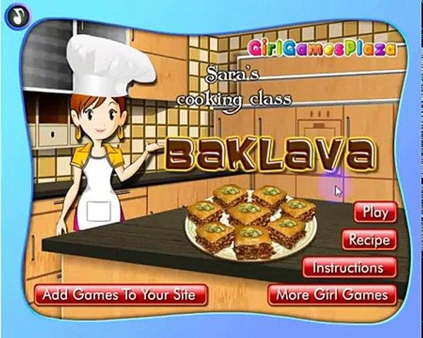 Trò chơi cho bé, Sara trò chơi nấu ăn bánh Baklava, Blackforest trò chơi trực tuyến | Godialy.com