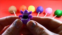 7 Surprise Egg Play Doh Lollipops! Mario Crashlings Disney Monster High Teenage