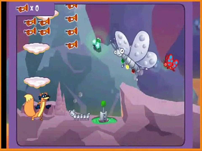 fox running jumping game, for kids , best game for children , super game for kids