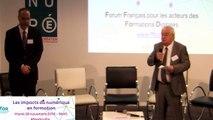 Les impacts du numérique en formation - Conclusion par Jacques BAHRY, Président du FFFOD -  Forum Français pour les acteurs des Formations Digitales