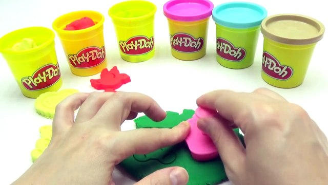 Play Doh Modelling Clay with Teddy Bird Heart Cookie Cutters Fun and Creative for Kids