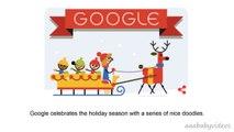 ᴴᴰ Happy Holidays new (Day 1) - Animated Christmas Google Doodle Tis the season! (new-12-23)