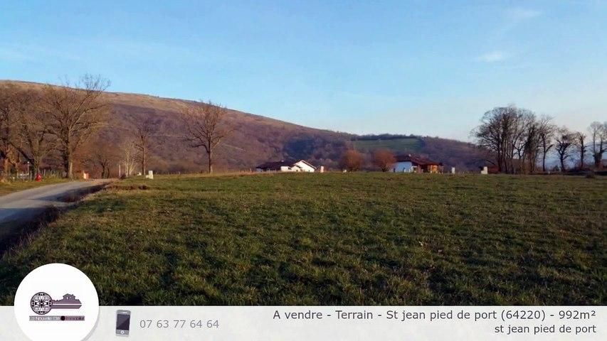A vendre - Terrain - St jean pied de port (64220) - 992m²