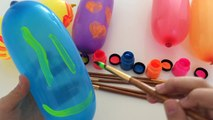 Learning Colors Painting Balloons - Finger Family for Kids Nursery Rhymes and Body Painting Video