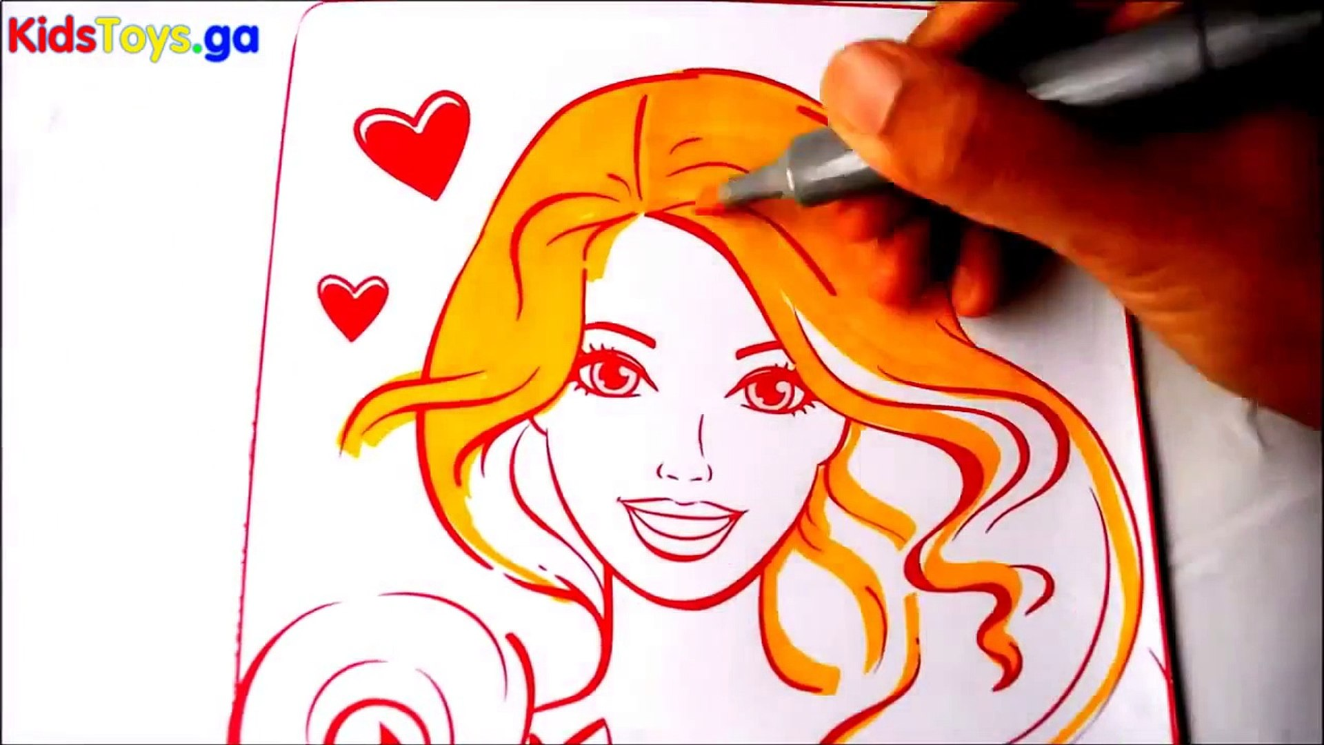 BARBIE Coloring Books Videos Kids Fun Arts Learning Activities Kids Balloons and Toys - Disney