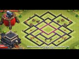 Clash of Clans TH9 Air Sweeper Farming Base Defence Layout Speed Build 2