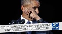 Barack Obama verse des larmes lors de son discours d'adieu
