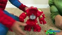 GIANT BALL SURPRISE OPENING Marvel Avengers SuperHeroes Toys Spiderman Hulk Superman Egg Kids Video