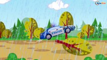 The Blue Police Car & Cop Cars Extreme Race | Emergency Vehicles | Cars & Trucks cartoons for kids