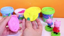 Peppa Pig Dough Pack with Molds and Shapes Play Doh Peppa Pig Figures Peppa Toys Kit Plastilina