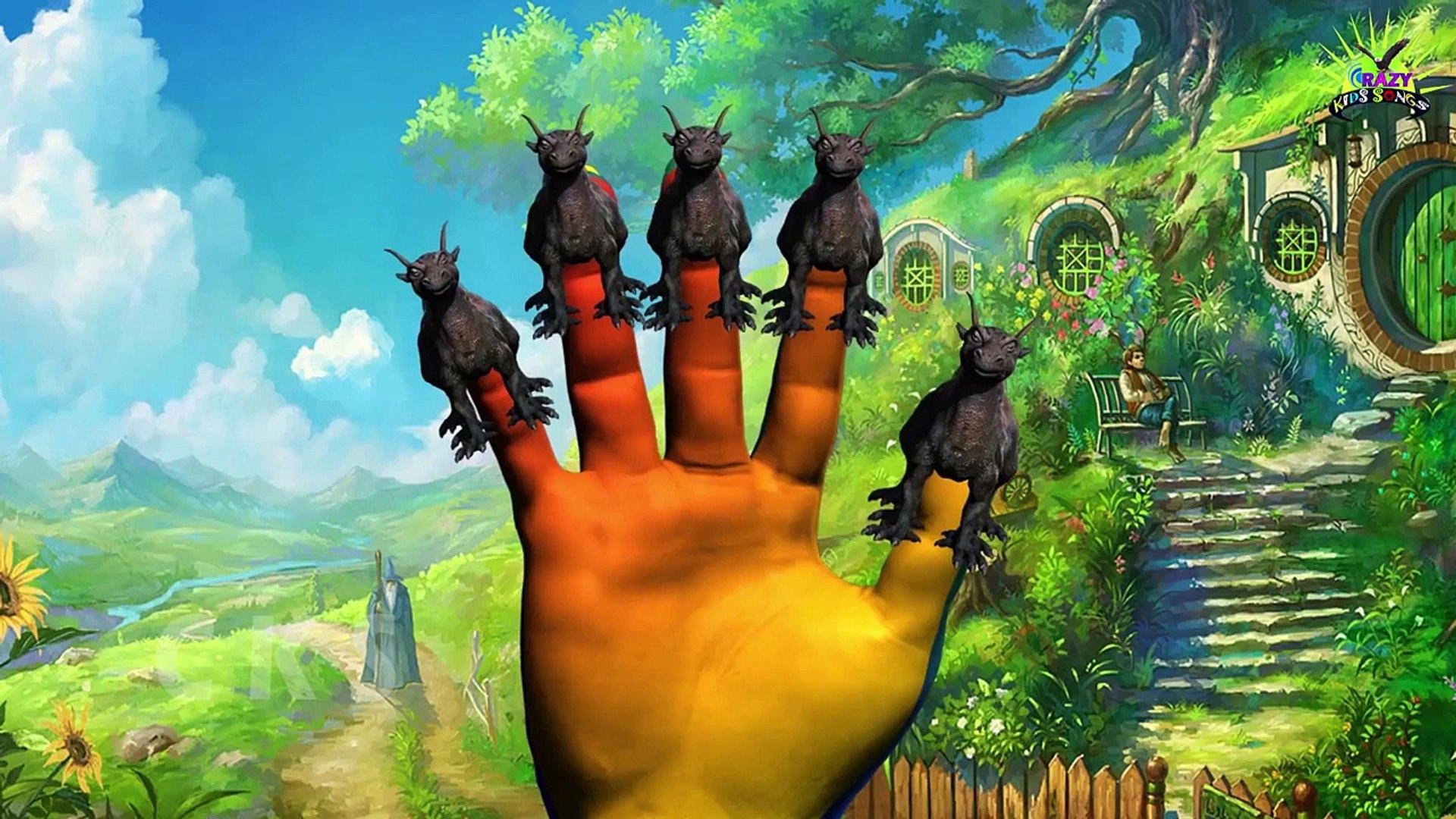 Палец семьи Рифмы для детей Wolf Lion | Тигр Мультфильм ПалÐ