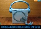 Casque audio nomade bleu SKH 60 C1 Silvercrest Lidl -headphone