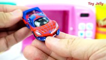 Disney Cars Modeling Clay Play Doh Surprise Spiderman car with Magic Microwave Oven